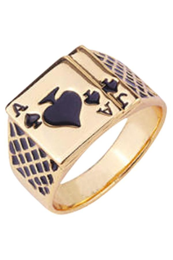 Ace of Spades Gold Ring