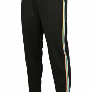 Side Taped Track Pants - Black