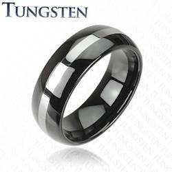"""Blackcoat tungsten"" ring."